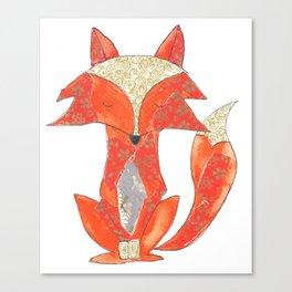Orange Zen Fox Canvas Print