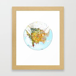 Upside-down Town. Framed Art Print