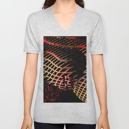 5502s-MAK Space Time Vulva Abstract Art Rendered in Acrylic by Chris Maher Unisex V-Neck