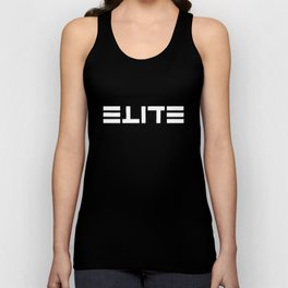 ELITE - Ambigram series (Black) Unisex Tank Top