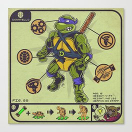 Guide To Your Halfshell Hero Canvas Print