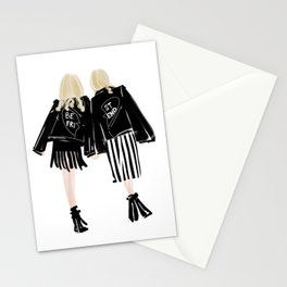 Fashionable Best Friend Holding Hand Stationery Cards