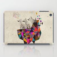 stickers iPad Cases featuring The Night Playground by Peter Striffolino and Kris Tate by Kris Tate