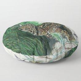 Study of a Jaguar Floor Pillow