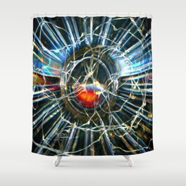 Corinne's Magic, Glass and Light Scanography Shower Curtain