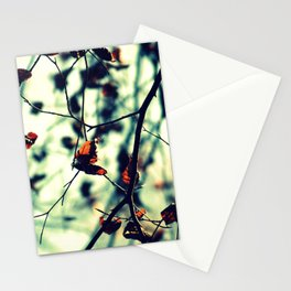 Aqua Leaves Stationery Cards