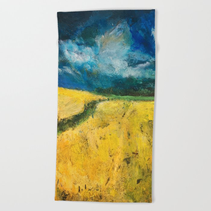 Yellow Fields Beach Towel