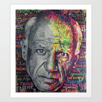picasso Art Prints featuring Picasso by Makelismos