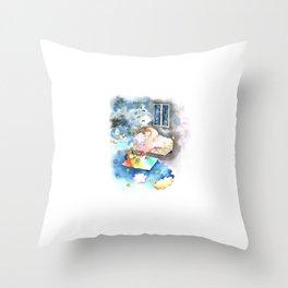 Dream big my little baby Throw Pillow