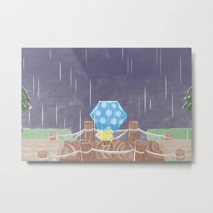 Rainy Day- Lineless Metal Print