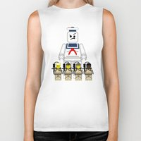 ghostbusters Biker Tanks featuring Ghostbusters  by AWOwens