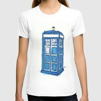 tardis T-shirts featuring Tardis by Stepharooskie