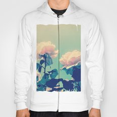 Soft Baby Pink Roses with Mint Blue Sky Backgroud Hoody