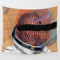 spaceman Wall Tapestries featuring Spaceman No:2 by FAMOUS WHEN DEAD