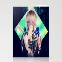 ghost in the shell Stationery Cards featuring ghost in the shell tribute: 25th anniversary  by Candice Steele Collage and Design
