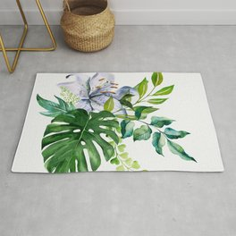 Flower and Leaves Rug