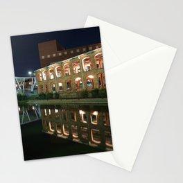 Cityscape of Greenville South Carolina at Night Stationery Cards