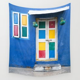 Colorful Indian Door Wall Tapestry