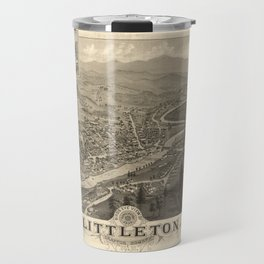 Vintage Pictorial Map of Littleton NH (1883) Travel Mug
