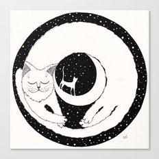 cats life: dreaming Canvas Print