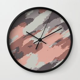 pink grey brown and black painting abstract background Wall Clock