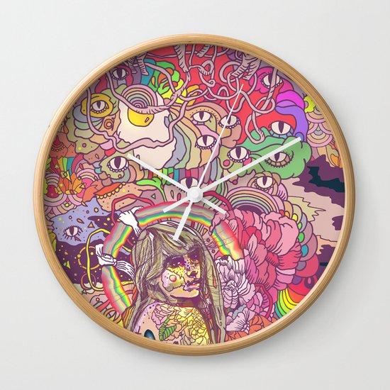 Feral Kittens Wall Clock