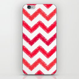 Red Chalk Chevron iPhone Skin