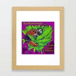 Purple Nurple Infestation Framed Art Print
