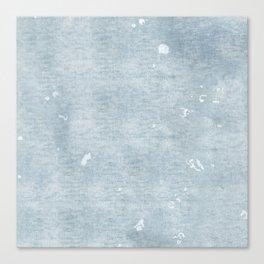 distressed chambray denim Canvas Print