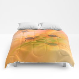 Sunflower and rainbow colors Comforters