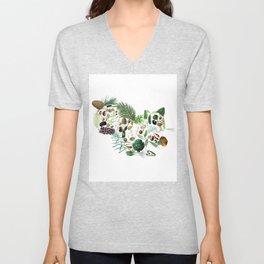 Botanical Squiirel Unisex V-Neck