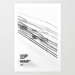 The Love Series 200 White Art Print