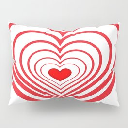 RED VALENTINES HEARTS IN HEARTS ART Pillow Sham