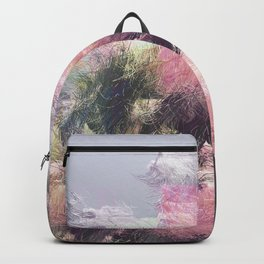 Wild Roses in Motion - Glitch Backpack