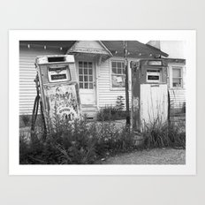 Old Gas Pumps Art Print