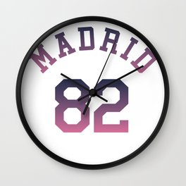 madrid 82 Wall Clock
