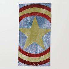 Vintage Capt America Beach Towel