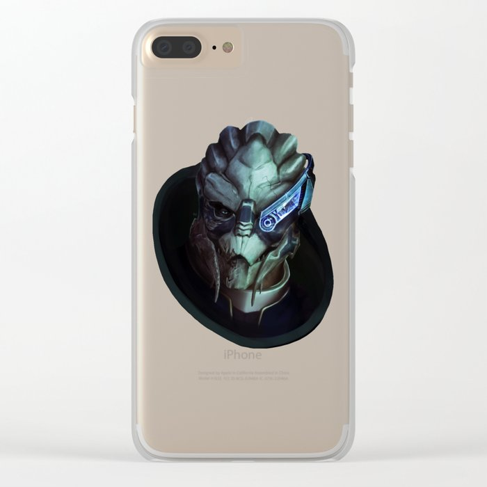 Mass Effect: Garrus Vakarian Clear iPhone Case