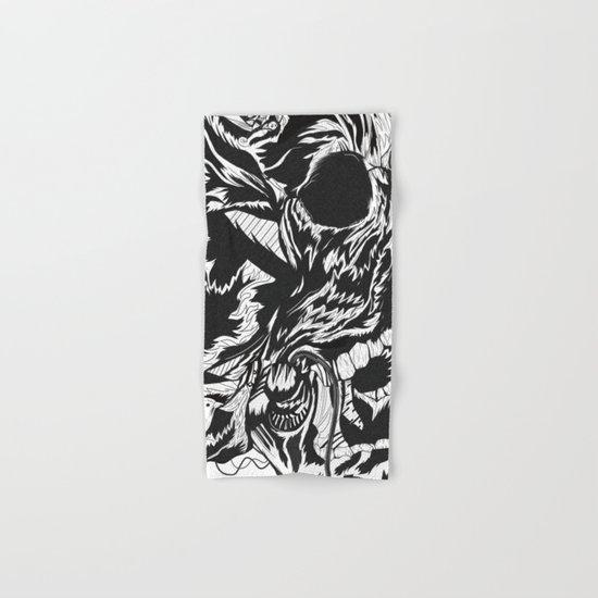 Skull Moustache Hand & Bath Towel