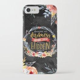 Darkness Hidden iPhone Case