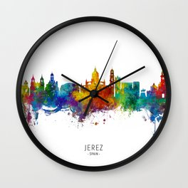 Jerez Spain Skyline Wall Clock