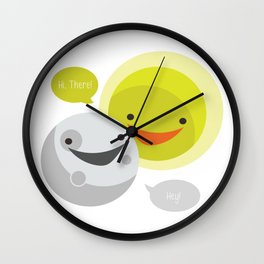 Eclipse Greeting Wall Clock