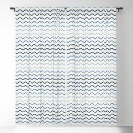 Blue Waves Blackout Curtain