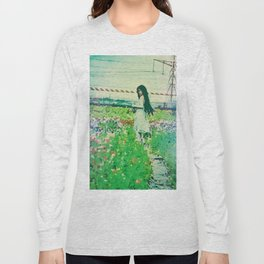 """A Flower Does Not Think Of Competing To The Flower Next To It. It Just Blooms"" Long Sleeve T-shirt"