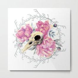 Avian Flower Bones Metal Print