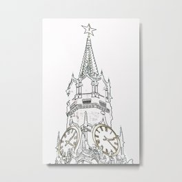 Kremlin Chimes- white Metal Print