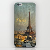 fitzgerald iPhone & iPod Skins featuring I love Paris by inourgardentoo