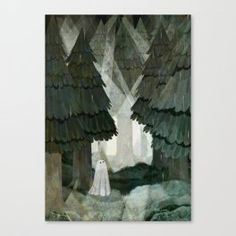 Pine Forest Clearing Canvas Print