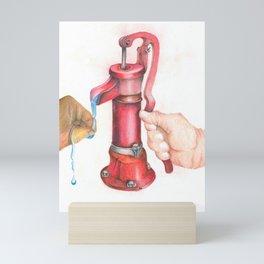 Save Water Mini Art Print