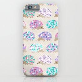 Hedgehog polkadot iPhone Case